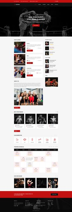 Puncher - Multipurpose Fight & Boxing PSD Template #psd #boxing #coach • Download ➝ https://themeforest.net/item/puncher-multipurpose-fight-boxing-psd-template/18898162?ref=pxcr