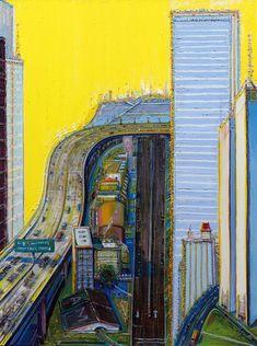 Wayne Thiebaud; Morning Freeway, 2012–13.