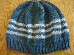 flat knit hat pattern