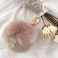 10Cm Light Brown PomPom/FurBall Bag Charm/Keychain This Gorgeous PomPom will give a fantastic look to your bag or keys. FAUX Rabbit Fur Boutique Bags
