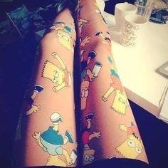 Leggings with Bart Simpson :) #fashion #womens fashion #leggings