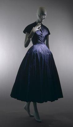 """Christian Dior """"Cocktail Dress"""" circa 1948 (Metropolitan Museum of Art)"""