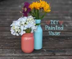 DIY home decor crafts :DIY Vase : DIY Painted Vase