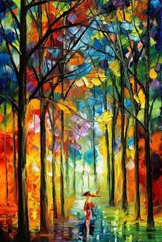 rainbow in the rain abstract christian art - Google Search