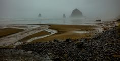 canon beach panorama storm by markbowenfineart Canon Beach, Weather Day, Landscape Photos, Oregon, Swimming, World, Water, Pictures, Photography