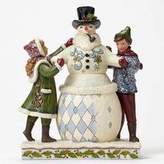Vict Children Building Snowman - 4047675 $75.00