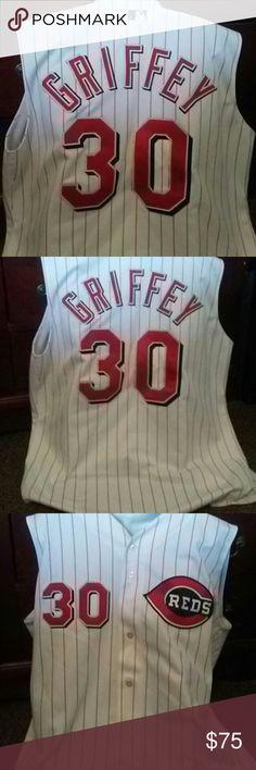 KEN GRIFFEY BASEBALL JERSEY SZ 48/XL NEW CONDITION.  KEN GRIFFEY BASEBALL REDS #30 JERSEY. MENS SZ 48 OR XL 😊 russell athletic  Shirts