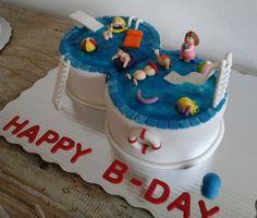 Children's Birthday Cakes - Pool B-day cake