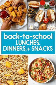 50 healthy, delicious, and simple recipes that are perfect for this busy time of year! Packable lunches, snacks, and easy dinners! Kids Meals, Family Meals, Easy Meals, Lexi's Clean Kitchen, Kitchen Recipes, Lunches And Dinners, Gluten Free Recipes, Clean Eating, Yummy Food
