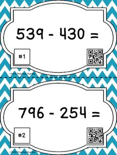 Subtraction Skills Scavenger Hunt - 22 Task Cards with QR Codes. This brand new item is available 50% off until Saturday, October 12!