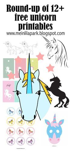 FREE printable unicorn printables | round-p