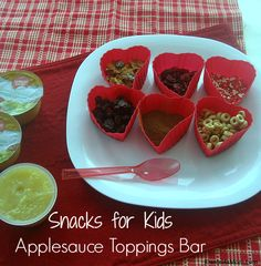 Snacks for Kids Applesauce Toppings Bar