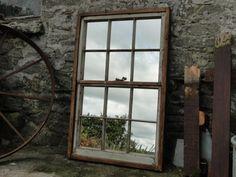 Reclaimed Window Mirror Large Sash Window in by RusticReclaimed, £159.00