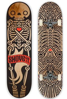 a tribal illustration for Skateboard #Illustration #Skateboard @matachodescorp