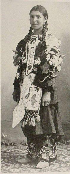 An Ojibwe woman. 1901