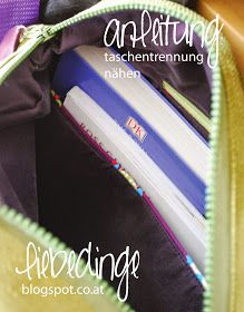 > Tutorial für eine eingesetzte Fächerteilung in einer Tasche...