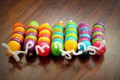 Plastic Egg Caterpillars