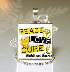 Child Hood Cancer Awareness Silver Square Glass by JnJGiftsnCrafts