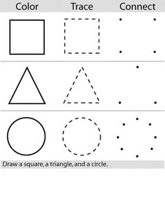 2014 free shape tracing worksheets for preschoolers