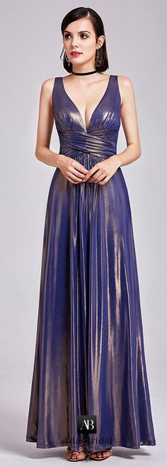 Brilliant Tangjin Cloth V-neck Neckline A-line Prom Dress With Pleats