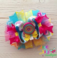 2 in 1 Lollipop Stacked Hair Bow