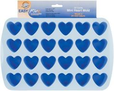 "Silicone Mold-Heart 1.5""""""""X1.75""""""""X.75"""""""" 24 Cavity"