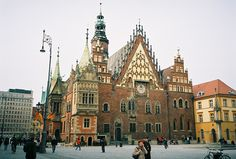 This town hall took over 250 yrs to build (it's a serious hodgepodge of architectural styles). Wroclaw, Poland
