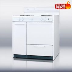 #discount SUMMITs #WM4307 brings classic design and durability with their 30 inch white gas range model WM4307 has an #electric ignition a lower boiler compartmen...