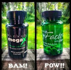 Plexus is not all about Plexus Slim (the pink drink). Here are two of my other favorites. Try 60 days risk free.   No fishy after taste with this all plant-based MegaX, Omega 3+6+9+5+7. It's amazing for heart and brain health and helps you get a good night's sleep also! The XFactor vitamins are retained and utilized by your body 300-400% more than regular multi-vitamins because of the Aloe Vera blend in them. www.plexusslim.com/jwidrick