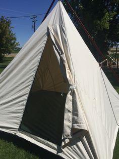Cowboy tent Jbardcanvasandleather.com & Cowboy range tents teepees tipis by jbardcanvasandleather.com | J ...