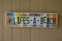 Recycled license plates ~~~