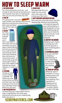 How to sleep warm.