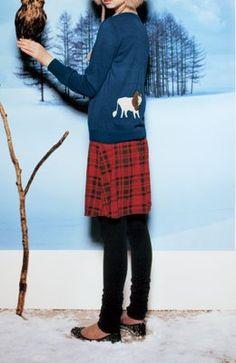 Amazon.co.jp: ふんわりチェックスカートのすそくしゅスカッツ(レッド) S(S): 服&ファッション小物