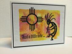 Frantic Stamper Happenings: Southwest Note Card (Anne Harada, Guest Designer)