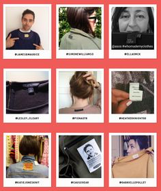 Fashion Revolution Wall (2016). Fashion Revolutionaries share photos of their clothing labels.