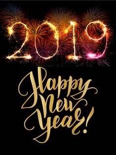 colorful explosion happy new year card 2019 as if fireworks on new years eve werent exciting enough how about fireworks in the shape of 2019