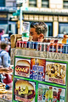 NYC street vendor.  #HDR