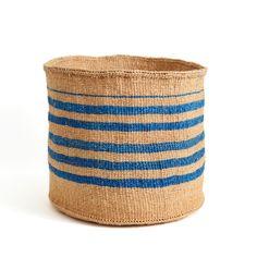 Royal Blue Striped Basket - Kenya | Far