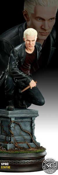"""Statue of James Marsters as Spike from the hit TV show """"Buffy the Vampire Slayer"""""""