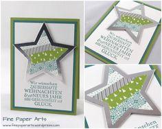 Stampin' up! christmas card, Weihnachtskarte Zauber der Weihnacht, Washi-Tape Stille Nacht - Fine Paper Arts Washi Tape, Masking Tape, Stampin Up Cards, Christmas Cards, Christmas Ideas, Blog, Frame, Stella, Card Ideas