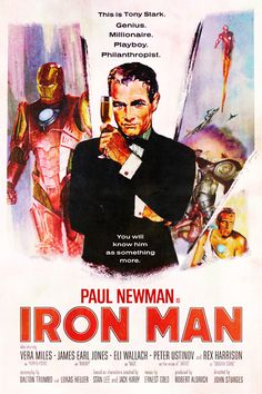 Posters of Modern Films Recast with Classic Actors - Iron Man