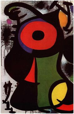 'Fascinating Personage', 1968 by Joan Miro (1893-1983, Spain)