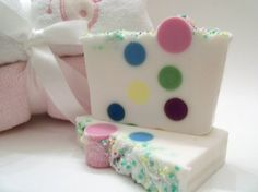 Bubble Gum Soap  Bubblelicious with Polka Dots by pinkdottedowl, $6.00