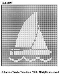 Sailboat Filet Crochet Pattern