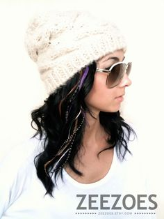 feather hair extensions - yes please!