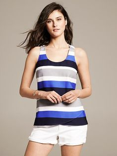 Striped RacerbackTank Product Image