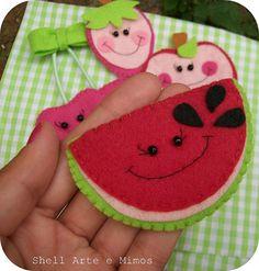 watermelon felted treats