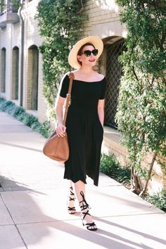 """One of the biggest style trends to emerge from summer 2016 is, without a doubt, the off-the-shoulder top, more formally known as """"Bardot style tops."""" At first, baring our shoulders felt like a throwback to another time, but now, it's so trendy and seen so often that it has started to feel more modern and fresh. Off-the-shoulder dresses are flirty, cute, and really versatile, and I kind of think it's a trend that's gong to stick around for a decent amount of time."""