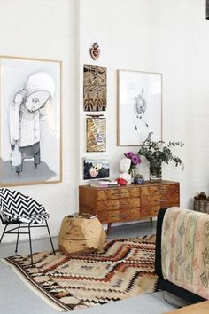 Eclectic living space | Discover more interior design styles on The LuxPad