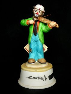 Emmett Kelly Porcelain Musical Figurine by by JulianosCorner, - SOLD